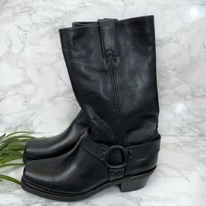 NEW Frye Harness 12R Boots Black Size 9.5 M